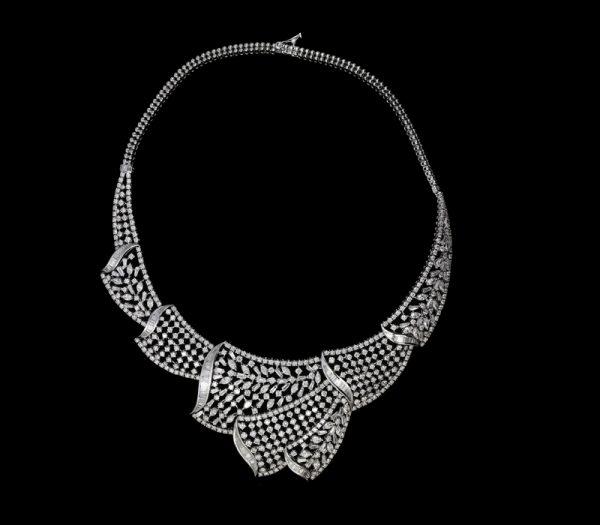 Heavy Designer Diamond Necklace Delmaya Collection Co Ltd